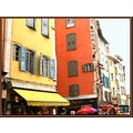 houses city architecture windows colours summer France