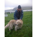 making friends in alaska...this was in the small village of akutan, in the aleutian island chain.