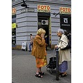 Budapest Hungary street old ladies woman people