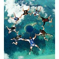 blue hole skydiving belize nature ocean