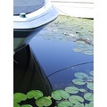 Boat down in Wayzata... I liked the contrast between the green lily pads, the white boat, and the...