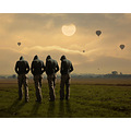 balloons landscape surreal sunset photomontage photoart selfportrait