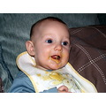 just a pic of me son eating his first bit of baby food he looks quite funny so just thought id sh...