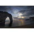 durdle door sunset dusk dorset coast beach sea water clouds lulworth