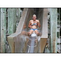 slide girl teenager summer fun hotpools pool