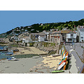 9918 Cornwall UK Mousehole Manipulated