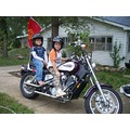 motorcycle riders grandkids grandchildren family bikes