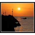 ilfracombe sunset devon nature sea lampposts reflection golden somersetdreams
