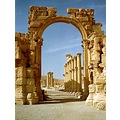 syria palmyra architecture temple ruins syrix palmx archs temps ruins