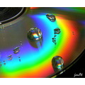 cd water drop spectrum colours