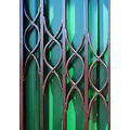 green door wrought iron