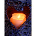 Candle heart light
