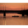 Sunset Limerick Shannon Rowing Orange Red