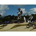 bmx bmxracing race jump bike bicycle girl teenager person