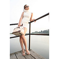 fashion glamour summer travel suitcase woman lady