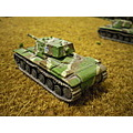 Finnish (captured soviet-built) KV1 heavy tanks. 15mm scale Battlefront Miniatures models, painte...