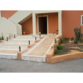 Wheelchair ramp, Greek style. No design awards there, then.