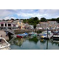 7907 Manipulated Padstow Cornwall UK Harbour Sea Coast Boat Moored