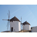 cyclades Aegean island Ios Greece windmills Mariamel