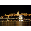 Buda Castle Chain Bridge Danube Budapest Hungary