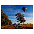 hot air balloon country side autumn ontario