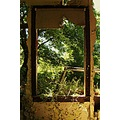 abandoned window frame