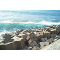 Madeira Portugal 2007 jardimdomar shore coast sun ocean green wave