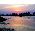 Miri River Mouth Sunset Borneo