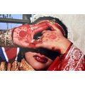 bride indian kanna hands national dress red