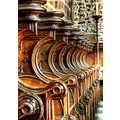'Choir Stalls Pattern': Fantastic carvings in Tideswell Parish Church - the 'Cathedral of the Pea...