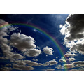 clouds rainbow nature