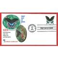 Butterflies nature stamps