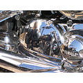 motorcycle reflection chrome