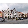 city architecture Pisek Bohemia