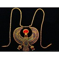 Tutankhamun Malmoe Falcon Gold Necklace 2012 October Skane Sweden