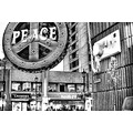 Peace Giant Plug Soho London UK