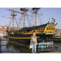 whitby port saling ship docks england
