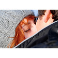 red hair girl irina winter together they lovely eyes kiss