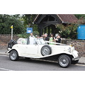 wedding bride car white church