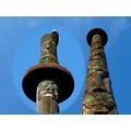 totem pole eagle nature art