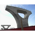 pila columna tren train ave puente pont bridge concrete sky cielo cel