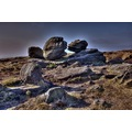 Peak District Derbyshire Bleaklow Wain Stones Kissing