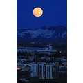 Supermoon yesterday evening in reykjavik,iceland.