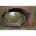 disused railway track bridge upton upon severn england