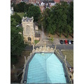 The roof of the Choir of Pershore Abbey taken from the top of the tower