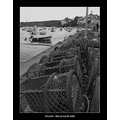 blackwhite fishing harbour sea