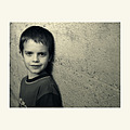 Samu children portrait bw