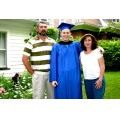 graduation college school son family posed