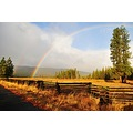 rainbow burney california mountains meadow pine trees signs