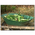 wheelbarrow corn garden vegetables